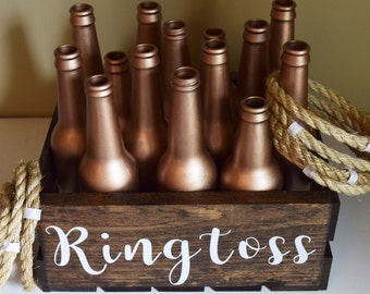 Ring Toss Ringtoss Personalized Customized Rose Gold Wedding Over sized Big Outdoor Wedding Yard Lawn Game!