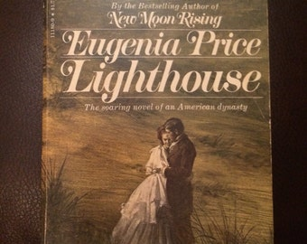 SALE - Lighthouse by Eugenia Price - vintage paperback book - 1977 - new moon rising - bantam books