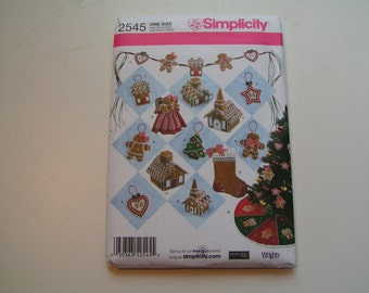 Simplicity Pattern 2545 Elaine Leigl Designs Christmas Decorations