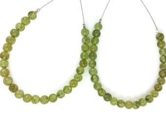 Grass Green Peridot Smooth Round Beads, 4-5mm, Green Beads, Peridot Rounds, Pistachio Green Beads