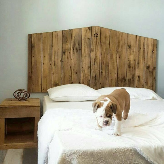Raw Rustic Cottage Reclaimed Recycled wood headboard