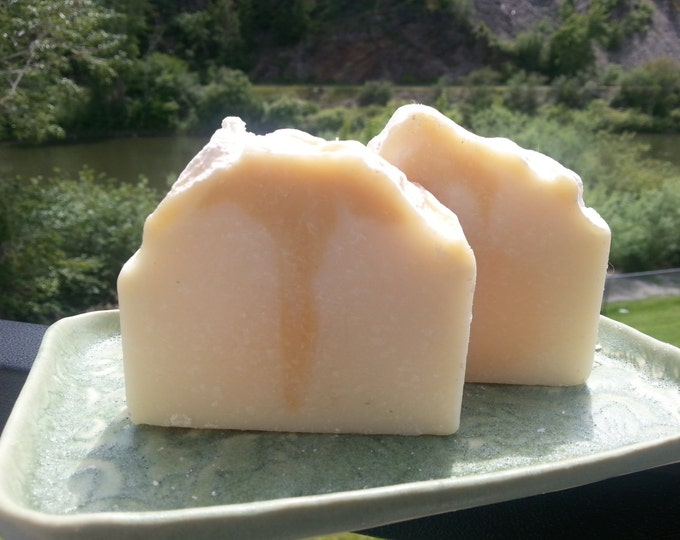 Honey scented cold process soap