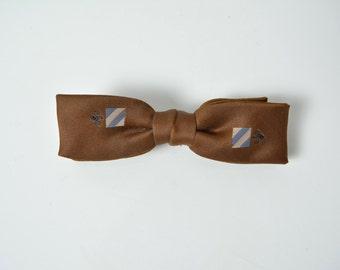 Vintage 1950s 50s Clip On Men's Bow Tie Brown Atomic