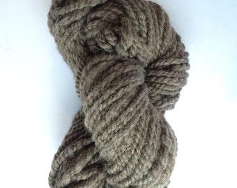 Handspun yarn, natural grey Shetland 180g/85m
