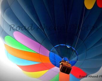 8 x 10 matted photograph, hot air balloon