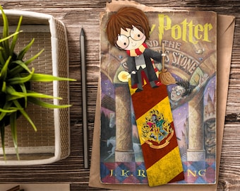Harry Potter Bookmark / Geek Bookmark / Harry Potter Inspired / Handmade Bookmark / Gryffindor Bookmark / Harry Potter Gift / Book marks