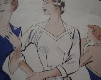 Vintage 1950's Butterick 5262 Halter Sun Dress and Brief Bolero Sewing Pattern, Size 12, Bust 30