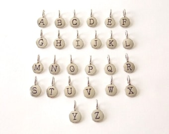 Silver Plated Initial Charm ADD ON.