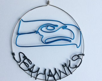 Seahawks Wire Ornament