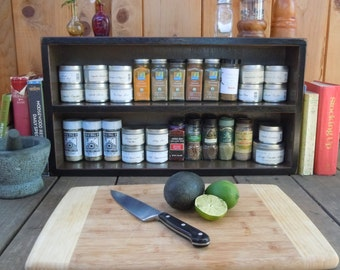 Spice Rack-Large Free Standing Spice Rack - Made with Reclaimed Materials