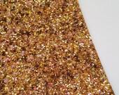SALE 8x11 Treasure Chest Jeweled Chunky Glitter Fabric Sheet