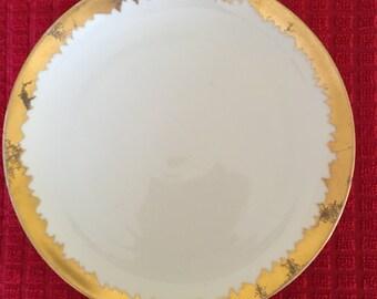 Vintage Tea Plate  Gold & White