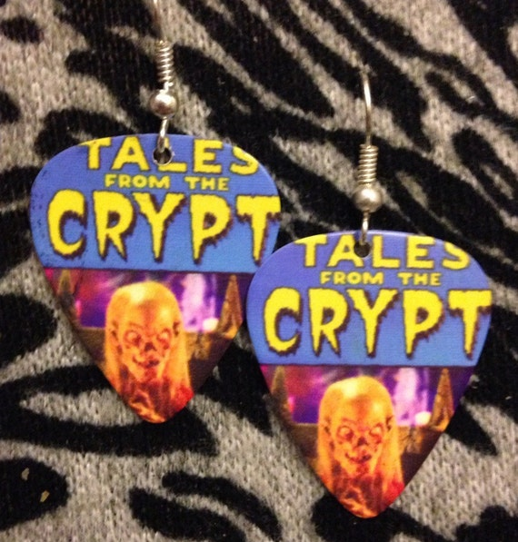 Tales from the Crypt Guitar Pick Earrings