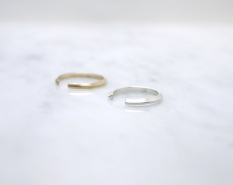 Triangle cuff ring - adjustable silver brass - open ring - minimalist stacking rings - dainty illusy