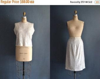 SALE - SALE 50s beaded sweater set / beaded wool