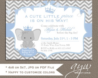 prince baby shower  etsy, Baby shower invitations