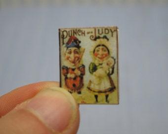 OFFER 50% Gaël Miniature   punch and judy book child 1:12 Dollhouse Scale Or 1/6 Scale Dollhouse Miniature playscal home decor book nursery
