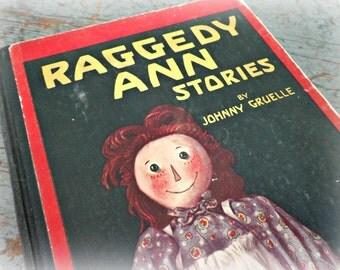 antique raggedy ann stories / children's book by johnny gruelle