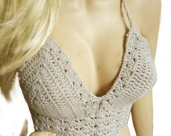 Crochet top summer top summer top Bustier halter top crochet bikini crochet bikini boho hippie