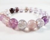 Super Seven 7 Stretch Bracelet 10mm High Vibration Gemstone Smooth Round Beads Melody Stone Sacred Seven