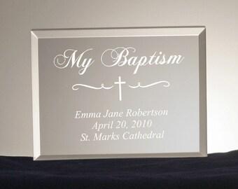 Engraved Religious Event Keepsake Plaque