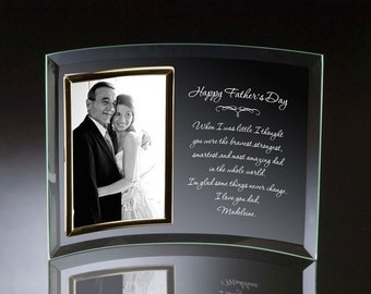 Engraved Father's Day Curved Glass Frame