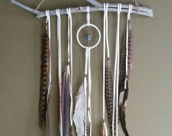 Dream Altar // dreamcatcher,  OAK white dream catcher // boho, home decor, one of a kind, dreamcatcher, gift, spirit tribe