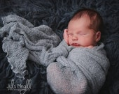 Grey RTS Stretchy Soft Newborn Knit Wraps 80 colors to choose from, photography prop newborn prop wrap