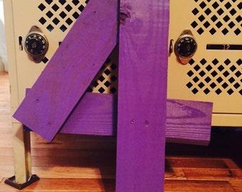 Purple Number 4 Photo Prop