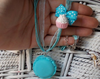 necklace, sweet macarons