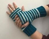 Crochet Pattern Winter's Bliss Wrist Warmers Fingerless Gloves Teen Adult