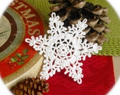 Crochet snowflakes Hanging Christmas snowflake ornaments White hanging ornaments Home decorations Winter wonderland Winter festive decor S13