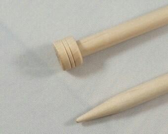 Knitting needles, wooden Knitpro knitting needles, 25cm long, Wooden birch knitting needles, 6 - 8mm knitting needles, knitting supply