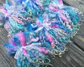 Teeswater Locks, Long, Dyed, Tailspinning, 1 ounce, Doll Hair, Spin, Felt, Fleece, Pixie Juice