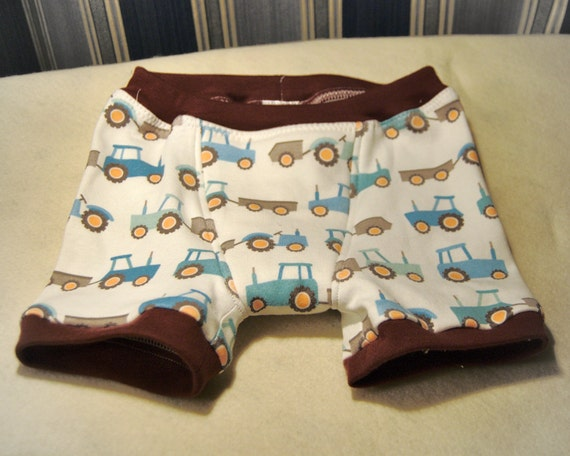 Tractors boxer briefs boys underwear with farm equipment