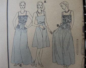 vintage 1980s Butterick sewing pattern 4124 misses disco era camisole skirt pants sash size 8
