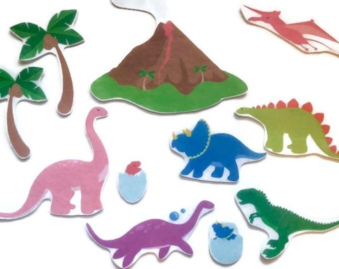 Dinosaur Felt Board Story - Toddler Quiet Book Pieces, Montessori Toy, Pretend Play Felt Board Set, Waldorf Toy, Sensory Board, Busy Board