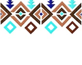 Tribal Pattern Border Fill 4 sizes  Embroidery Designs   INSTANT DOWNLOAD