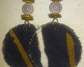 Handmade Mudcloth Dangle Earrings
