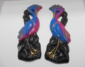Vintage Miller Exotic Birds--Chalkware Pair--Miller Studio (#22)