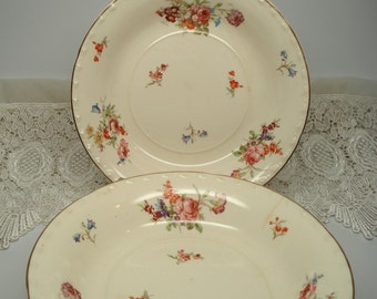 Vintage Wedding Soup Bowls Crooksville China Rose Bouquet Shabby Cottage Chic Set of 6 Vintage Bridal Shower