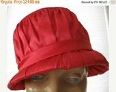 ON SALE vintage. PINK. bright. Hat. velvet. Satin. 1960s.
