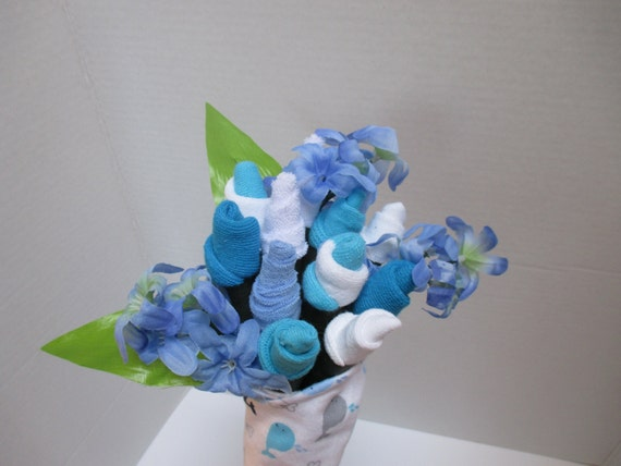 Baby Gift Bouquet New Zealand : Baby boy sock bouquet shower gift new mom
