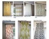 SALE on select fabrics Curtain Panels, two panels