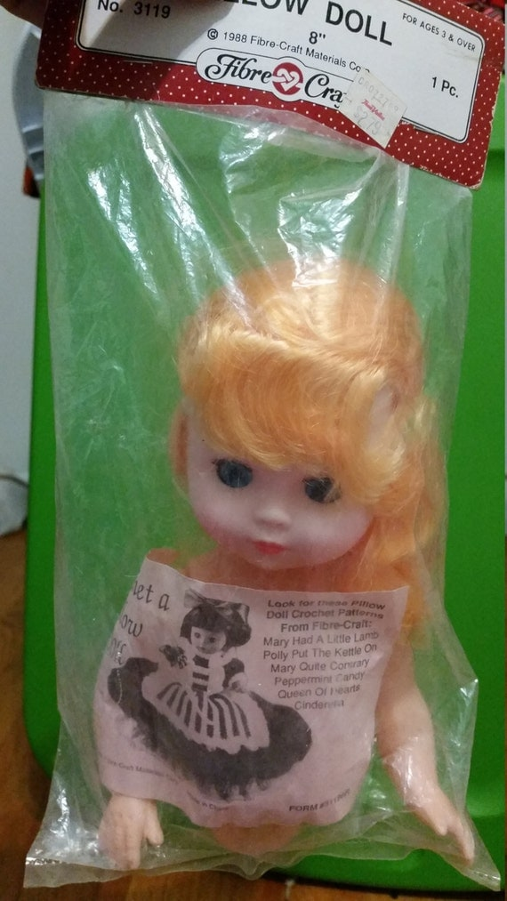 1988 fibre craft pillow doll 8 inch with by wendyhall1976 for Fibre craft 18 inch doll