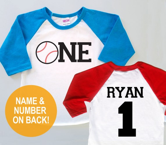Personalized First Birthday Baseball Jersey Baby Toddler