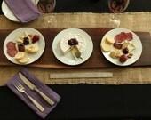 Extra Large Rustic Black Walnut Live Edge Grain Cutting Board/Bread Board/Cheese Board/Serving Tray