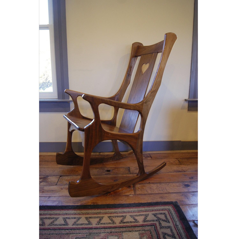 noyer chaise chaise noyer danois moderne chaise bascule. Black Bedroom Furniture Sets. Home Design Ideas
