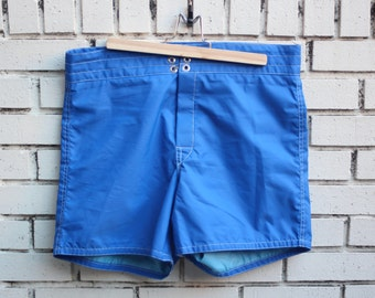 Vintage BIRDWELL BEACH Swimming Shorts vtg outdoor clothing sand pocket outerwear summer clothing made in usa