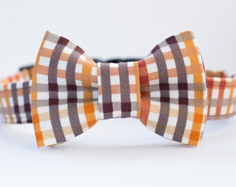 Fall Plaid Dog Collar - Thanksgiving Plaid